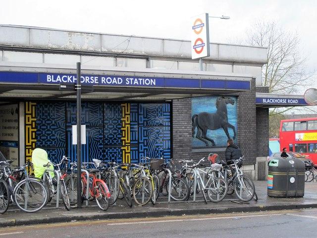 Blackhorse Road tube station - entrance