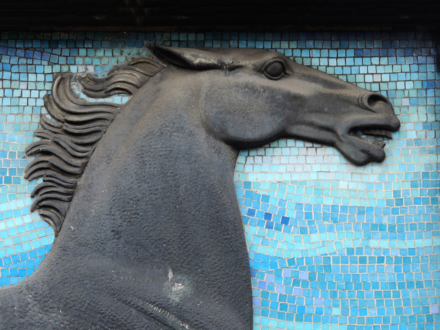 Blackhorse Road tube station - sculpture (detail)
