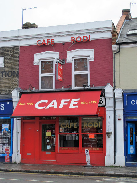 Cafe Rodi, Blackhorse Lane, E17