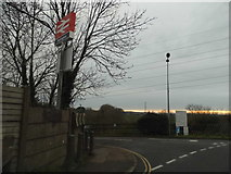 TL0330 : The entrance to Harlington Station by David Howard