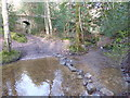 TQ4229 : Stepping stones across Millbrook stream in the Chelwood Vachery Forest Garden by Marathon