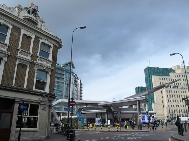 Vauxhall tube station - entrance buildings