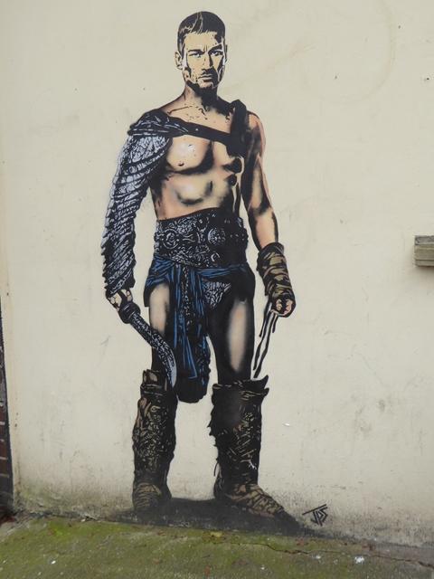 """""""Spartacus"""" street art"""