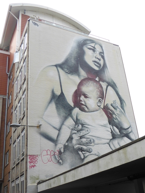 Street art on Nelson Street