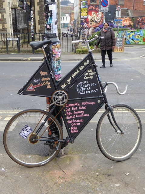 Advertising bike on City Road