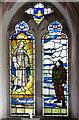 TM0287 : St Andrew's church in Quidenham (memorial window) by Evelyn Simak
