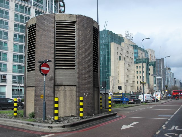 Ventilation shaft by Vauxhall bus station
