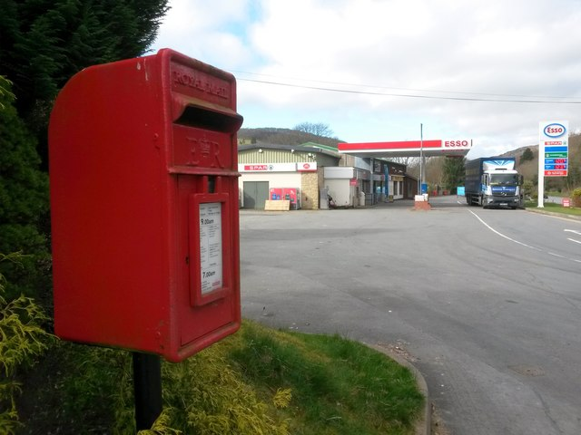 Doldowlod: the post office and postbox № LD1 163