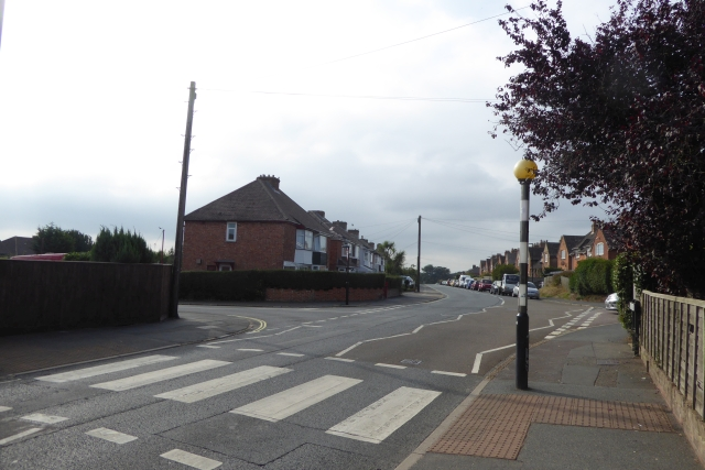 Zebra crossing on Mill Hill Road