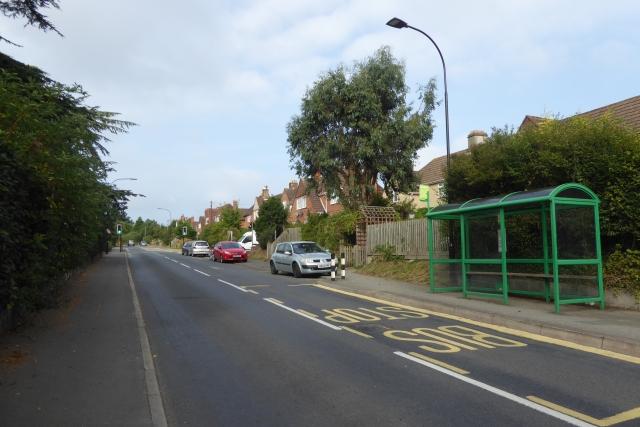 Bus stop on Newport Road