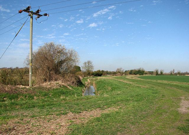 Farm track and New Cut Drain