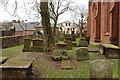 NS4927 : Mauchline Parish Church Graveyard by Billy McCrorie