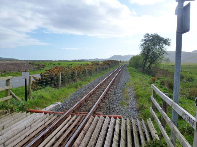 Welsh Highland Railway south of level crossing 54.67