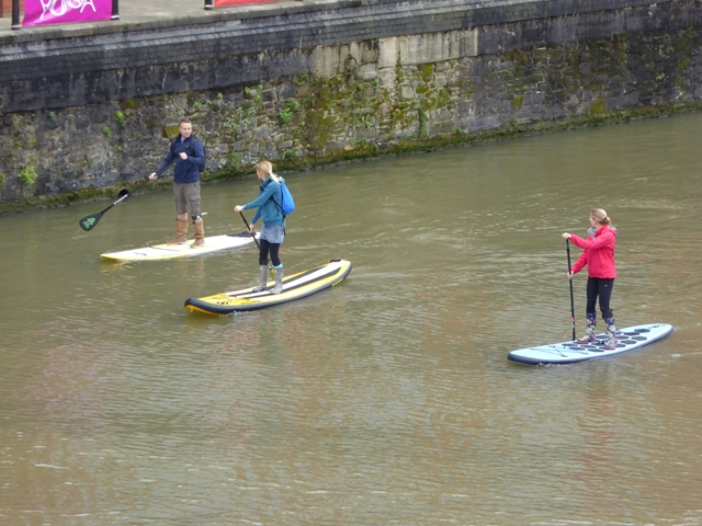 Paddle boards on the Floating Harbour