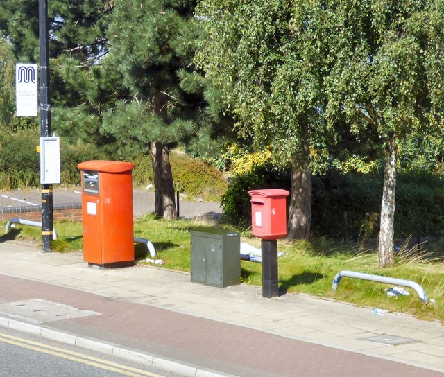 Postboxes on Trafford Wharf Road