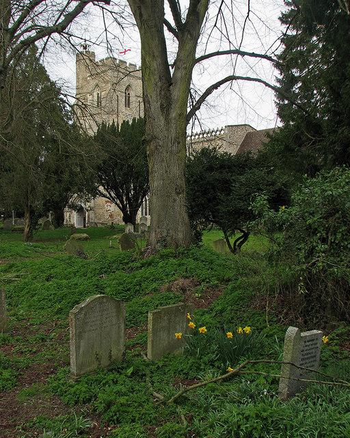 In Hundon churchyard