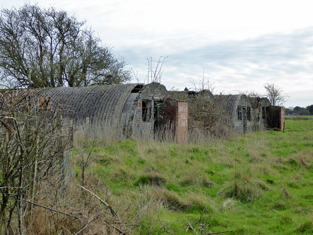 Remains of Boyes Farm anti-aircraft gun site