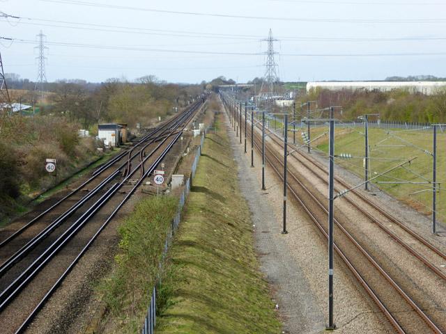 Railways west of Harringe Bridge