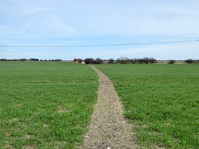 Footpath east from Gammon's Farm Lane