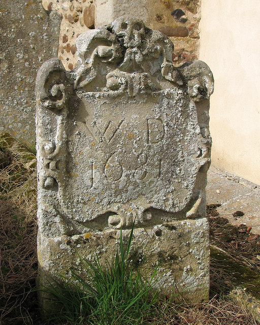 Great Bradley: a 17th-century headstone