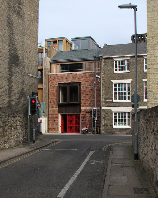 Malcolm Street, Jesus Lane and the entrance to Wesley House