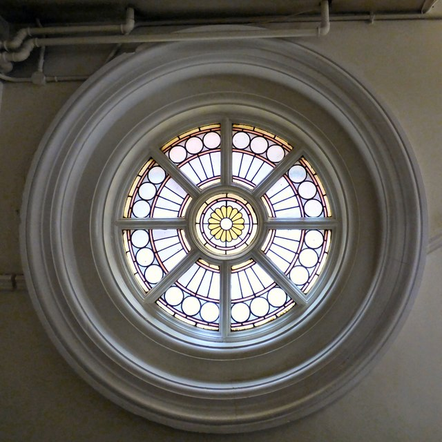 A window in Hyde Town Hall