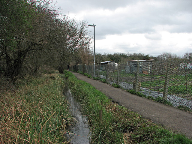 Cherry Hinton Brook, Snakey Path and Burnside Allotments