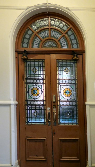 A doorway in Hyde Town Hall