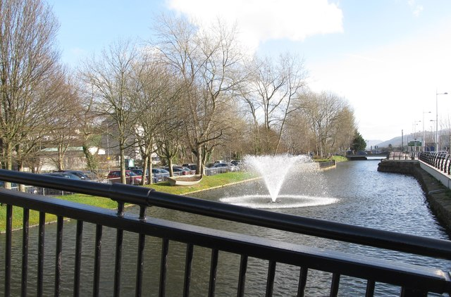 Fountain in the Newry Canal