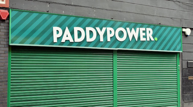 Paddy Power sign, Belfast (March 2017)