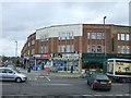 TQ2189 : Shops on Edgware  Road (A5) by JThomas