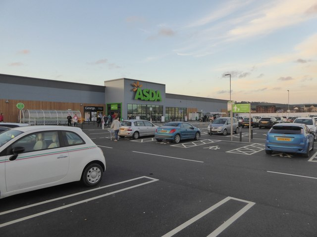 ASDA supermarket on edge of Barnstaple © David Smith