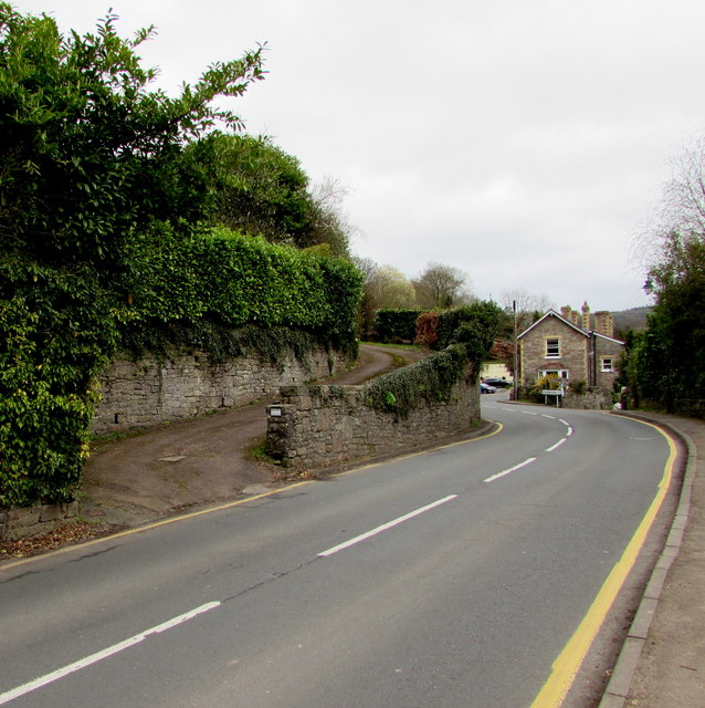 Manor House entrance drive, Tintern