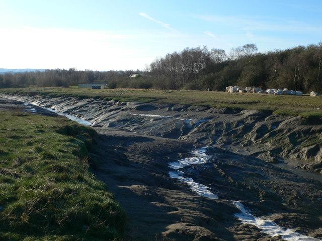 Muddy creek which empties into the Dee estuary near Flint