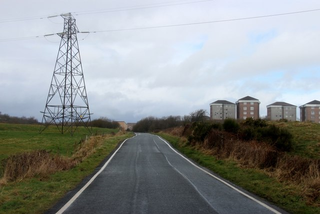 Electricity Transmission Line crossing Auchenbothie Road