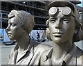 SK3587 : Detail of the Women of Steel statue, Sheffield : Week 12