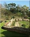 SY5195 : Garden wall, Mappercombe Manor by Derek Harper