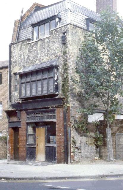 18th Century weaver's house, Brick Lane, East London, Circa 1980