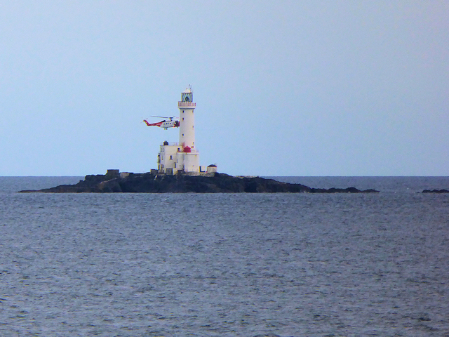 Coastguard Helicopter at Tuskar Rock Lighthouse