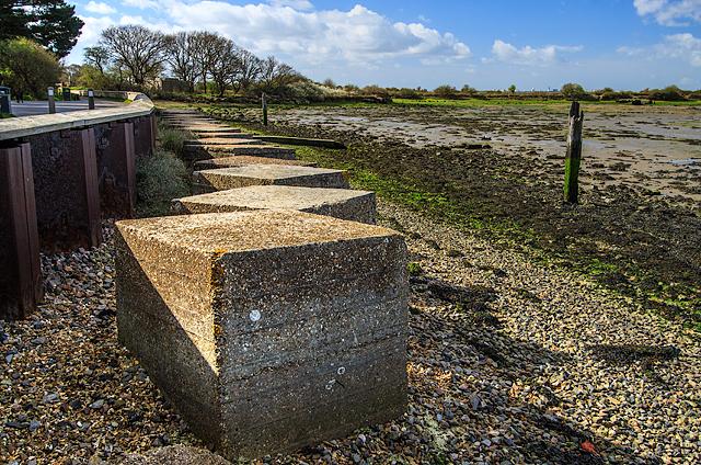 WWII Hampshire: Hayling Island - Langstone Bridge anti-tank blocks (1)
