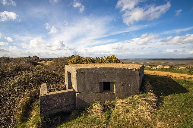 WWII Hampshire: Hayling Island - Mengham Salterns pillbox (21)