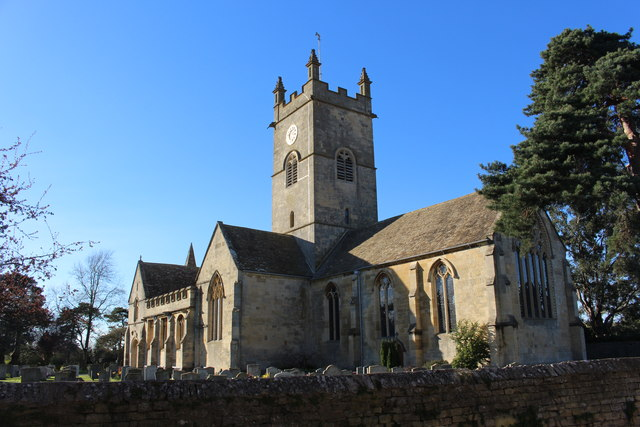 Bishop's Cleeve Church on a sunny March afternoon