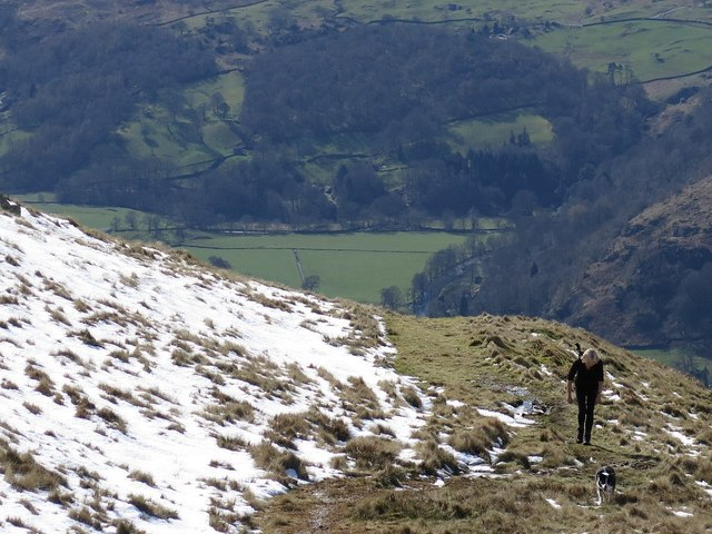 Ascending path near High Pike