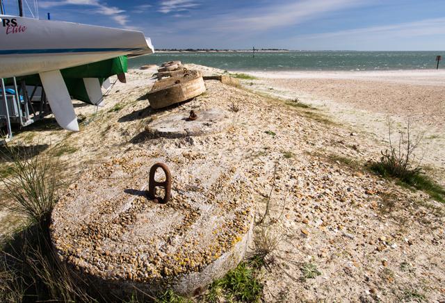 WWII Hampshire: Hayling Island - Sandy Point anti-tank blocks (23)