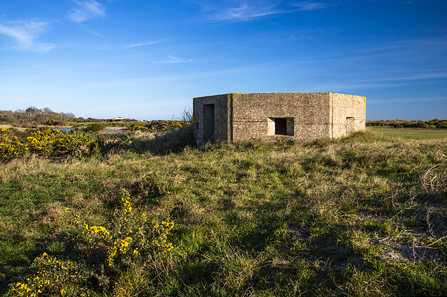 WWII Hampshire: Hayling Island - Sinah Common pillbox no. 5 (32)