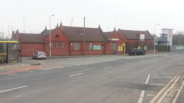 Birkenhead North railway station - exterior view