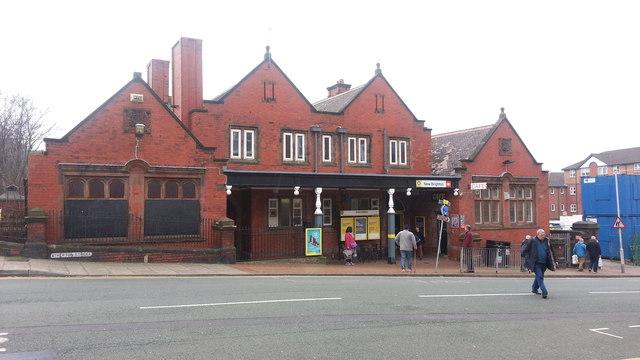 New Brighton railway station - street view