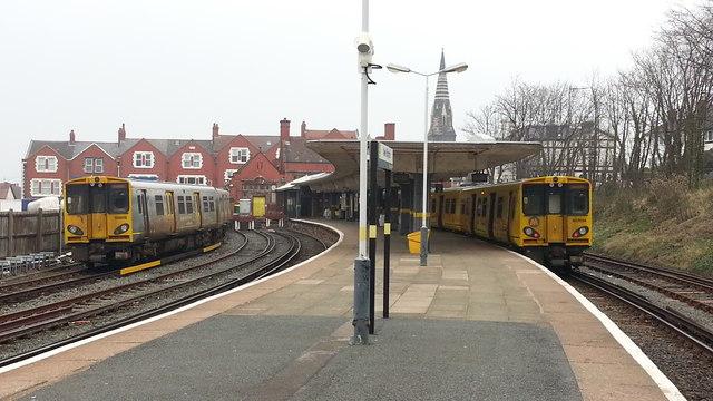New Brighton railway station - platform view