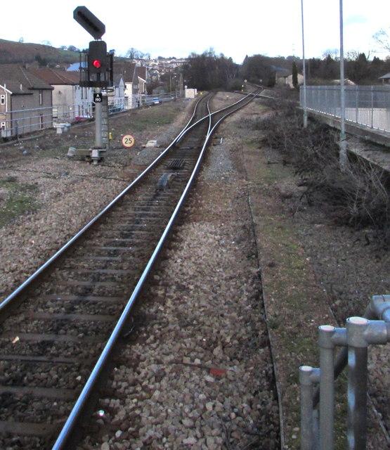 In Abercynon Rhondda Cynon Taf: Signal A190 At A Railway Junction,... © Jaggery