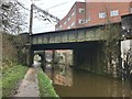 SJ8762 : Railway bridge over the Macclesfield Canal by Jonathan Hutchins